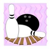 Broches et bille de bowling illustration de vecteur