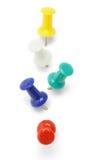 Broches multicolores de poussée image libre de droits