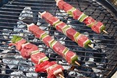 Brochette говядины на барбекю стоковое изображение rf