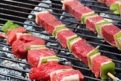 Brochette говядины на барбекю стоковые изображения