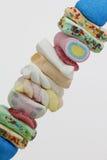Brochette сладостных конфет стоковое фото
