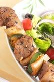 Brochette с греческим салатом стоковые изображения