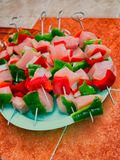 Brochette de Chiken Photographie stock
