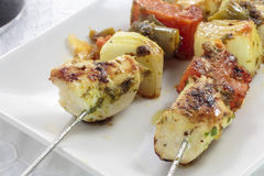 Brochette de poulet Images stock