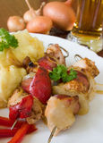 Brochette de viande Image stock