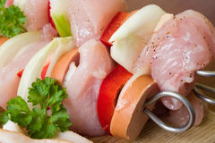 Brochette de viande Photo stock