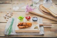 Brochette de yakitori de poulet Photo libre de droits