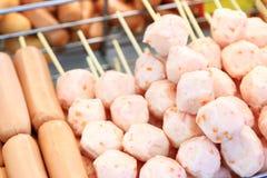 Brochettes de boule de porc Images libres de droits