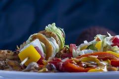 Brochettes de chiche-kebab de crevette Images stock