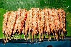 Brochettes de crevette photo libre de droits