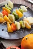 Brochettes de fruit Images libres de droits
