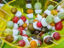 Brochettes de fruit Photo libre de droits