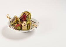 Brochettes de fruit de table Photographie stock libre de droits