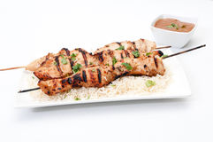 Brochettes de poulet Photo libre de droits