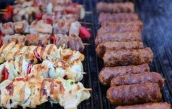 Brochettes de poulet et petite viande Image libre de droits