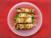 Brochettes de viande de porc Photos stock
