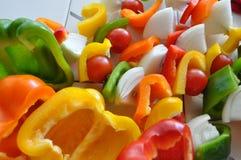 Brochettes des légumes Image stock
