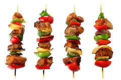 Brochettes frites Photographie stock