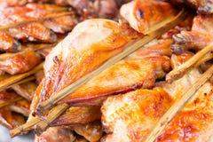 Brochettes grillées de blanc de poulet Images libres de droits