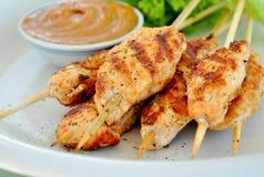 Brochettes grillées de poulet Images stock