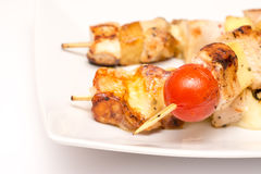 Brochettes hawaïennes Photo stock