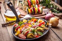 Brochettes végétales Image libre de droits