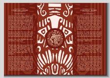 Brochura étnica do vetor Imagem de Stock Royalty Free