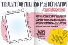 Brochura do molde do vetor em um estilo romântico Fotos de Stock