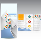Brochure. Template layout design with icons Stock Photography