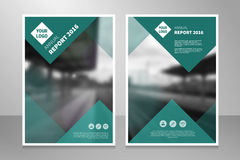 Brochure annual report book abstract background design template. Modern annual report, brochure or book design template. Abstract light background front and back Royalty Free Illustration