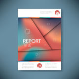 Brochure or annual report cover with abstract Stock Photo