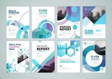 Brochure, annual report, flyer design templates in A4 size Royalty Free Stock Photos