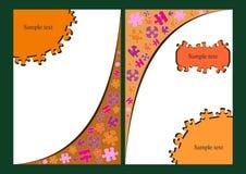 Brochure avec la conception de puzzle illustration libre de droits