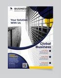 Brochure Bedrijfsmalplaatje eenvoudig Modern Ontwerp en van elegant_business brochuremalplaatje 01 royalty-vrije illustratie