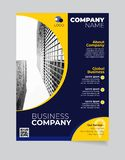 Brochure Bedrijfsmalplaatje eenvoudig Modern Ontwerp en van elegant_business brochuremalplaatje 11 vector illustratie