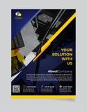 Brochure Bedrijfsmalplaatje eenvoudig Modern Ontwerp en van elegant_business brochuremalplaatje 10 stock illustratie