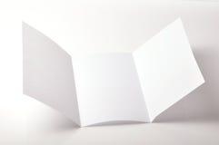Brochure blanc Photographie stock libre de droits