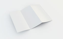 Brochure blanc Photo stock