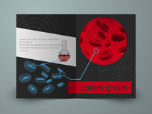 Brochure for blood research laboratory Stock Photo