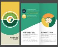 Brochure. Blue corporate brochure, template design Stock Illustration
