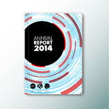 Brochure/boek/vliegerontwerpmalplaatje met cirkels Stock Foto