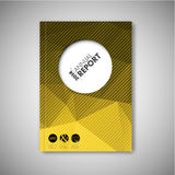 Brochure / book / flyer design template - yellow polygons Royalty Free Stock Images