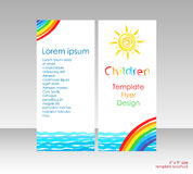 Brochure with bright cover picture Royalty Free Stock Image