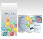 Brochure with bubbles. Professional business catalog template or corporate brochure design with inner pages Stock Illustration