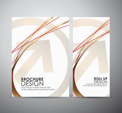 Brochure business design abstract red Arrows background template or roll up. Royalty Free Stock Images