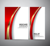 Brochure business design abstract red line background template or roll up. Stock Photography