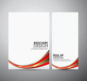 Brochure business design abstract red line background template or roll up. Royalty Free Stock Photography