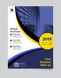 Brochure Business template simple Modern Design and elegant_business brochure template 07 stock illustration