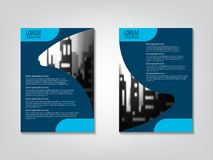 Template. Brochure business template royalty free illustration
