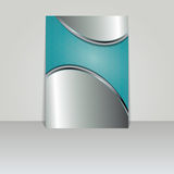 Brochure card banner metal Royalty Free Stock Photography